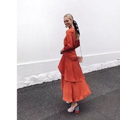 """104 Likes, 1 Comments - Australian Fashion Labels (@ausfashionlabels) on Instagram: """"The beautiful @saasha_burns wears our @finderskeepersthelabel 'Stevie Long Sleeve Dress' in saffron…"""""""