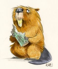 Been working more digitally lately and its made me miss working on paper with actual pencils and brushes. Painted a little watercolor of a beaver last night… not sure why he's a little depressed…...