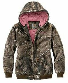 Carhart pink camo jacket, early bday present!!!! ❤