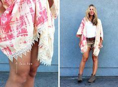 Différents DIY kimono facile (gratuit)
