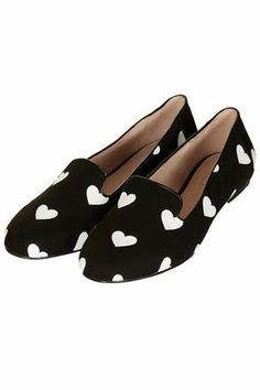 heart print loafers / topshop