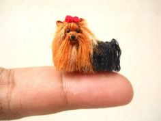Yorkshire Terrier - Tiny Crochet Miniature Dog Stuffed Animals - Made To Order by SuAmi on Etsy https://www.etsy.com/listing/201900928/yorkshire-terrier-tiny-crochet-miniature
