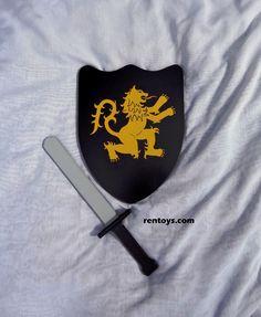 toy swords, toy shields