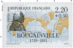 Timbre : 1988 BOUGAINVILLE 1729-1811 | WikiTimbres