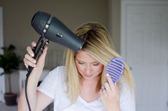 A quick blow dry tip // by Kate Bryan at the Small Things Blog