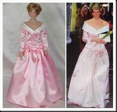 Franklin Mint Diana -- NOT one of my favourite gowns.  It always looked too big, like it was about to slide off.
