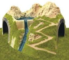 model trains tunnels - Google Search