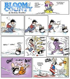 When Animals Attack! The Dog-Slap Episode Bill The Cat, Berkeley Breathed, Sunday Paper, Animal Attack, Cheer Me Up, Cat Decor, Feeling Down, American Comics, Comic Strips
