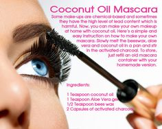 Home made mascara for ladies