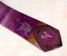 Gothic Dragon men's necktie in steampunk style Best by tiestory