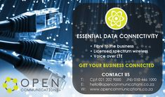 Essential #DataConnectivity offered by #OpenCommunications.  #Fibre