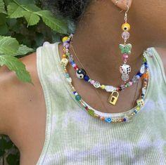 Hippie Jewelry, Cute Jewelry, Beaded Jewelry, Jewelry Accessories, Beaded Necklaces, Fairy Jewelry, Bold Jewelry, Trendy Jewelry, Handmade Necklaces