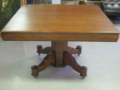 Antique Dining Tiger Oak Table