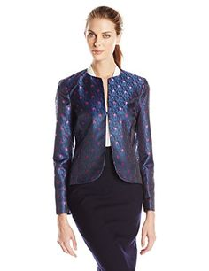 Anne Klein Women's Dot Print Jacquard Jacket >>> Click image for more details.