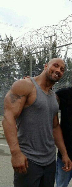 Dwayne Johnson, (with a cut out fan) ha ha,