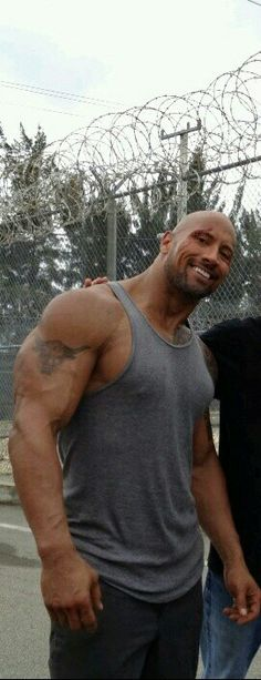 Dwayne Johnson, (with a cut out fan) ha ha,