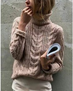 Como hacer Invernos Chunky fácil malla pullover estándar nuevo 2019 - Página 18 de 42 - crochetbeaus. com Style Me, Chunky Sweaters, Street Style, Pullover, Knitting, Casual, Beige, Outfits, Crafts