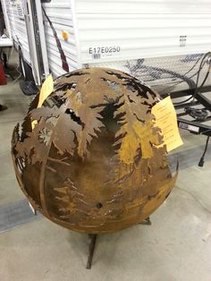 """Cool firepit we saw at the """"Men's Show"""" in Grand Forks on 2/22/14."""