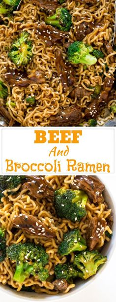 BEEF AND BROCCOLI RAMEN #beef #broccoli #ramen #deliciousfood #dinner #lunch Brocoli Slaw Recipes, Beef Brocoli, Crockpot Beef And Broccoli, Ramen Recipes, Pork Recipes, Asian Recipes, Asian Foods, Cheese Recipes, Cooking Recipes