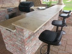 outdoor barbeque counter top ideas - Google Search