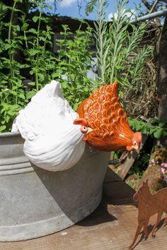 Ceramic Chicken, Chicken Art, Coq, Planter Pots, Arts And Crafts, Internet, Birthday, Creative, Flowers