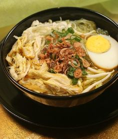 Soto ayam (indonesia chicken soup - there's like 10 different kind of herbs/ingredients for the soup alone!)