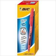 20 BIC CRISTAL CLIC GEL RETRACTABLE PENS COLOUR RED 3086123165991 on eBid United Kingdom