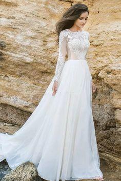 Princess Wedding Dresses,Long Wedding Dresses With Lace Long Sleeve Bateau #weddingdresses #longweddingdresses #laceweddingdresses