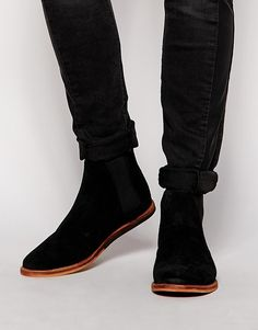 Shop Frank Wright Burns Chelsea Boots at ASOS. Black Suede Chelsea Boots, Chelsea Boots Outfit, Shoes Without Socks, Dr Martens Men, Black Men Beards, Mens Winter Boots, Boating Outfit, Online Shopping Shoes, Fall Shoes