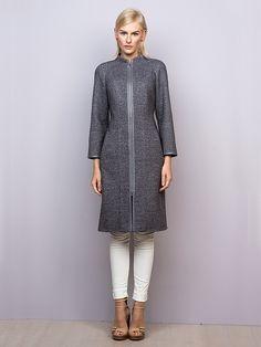 Пальто женское цвет серый, твид, артикул 3014760p00091