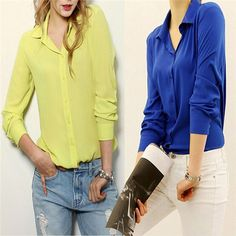 4.92. 5 colors. 2015 Lapel Collar Women Ladies Blouses Chiffon Shirt Woman Basic Sexy Tops Plus Size Clothing Chemise Femme WCX565-in Blouses & Shirts from Women's Clothing & Accessories on Aliexpress.com | Alibaba Group