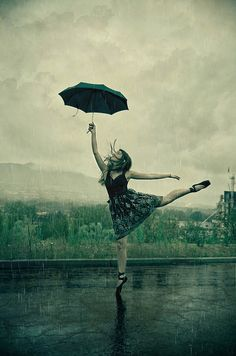Life is not about waiting for the storm to pass it is about learning to dance in the rain☔️