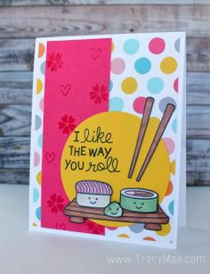 Tracy Mae Design: I Like The Way You Roll // Lawnscaping Challenge #75  - #polka dots and #hearts