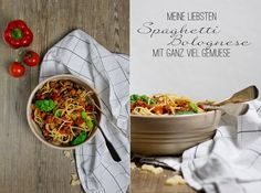 Köstlichste Spaghetti Bolognese mit viel Gemüse | Classic but so tasty: Spaghetti Bolognese. In this version with a lot of vegetables via www.uebersee-maedchen.de