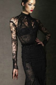 Tom Ford chantilly lace dress
