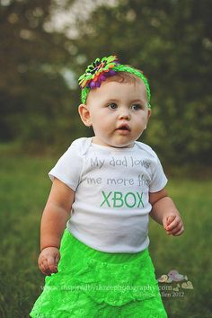 My Dad Loves Me More Than XBOX -Funny Baby Onesie or Shirt by ShopTheIttyBitty, $18.00