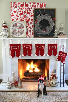 This cozy Christmas home tour is filled with classic touches and vintage finds used in unique ways. I especially love this mantel with a snowy twig wreath from HomeGoods as the focal point kellyelko.com sponsored pin