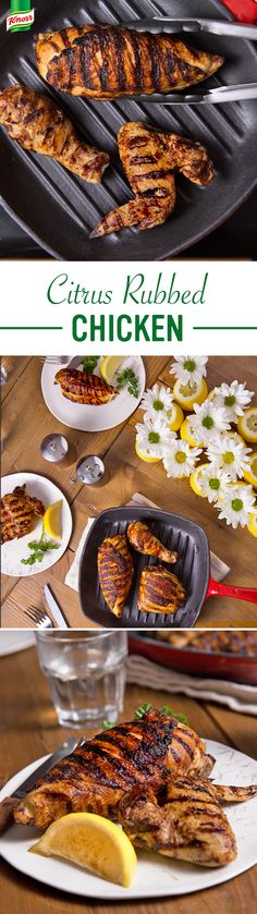 What's for dinner? Combine simple, seasonal ingredients to create a fabulous, flavorful dish. The easy, money-saving recipe features your favorite poultry and lemon zest flavor. How delicious! Chicken Recipes For Two, Chicken Flavors, Baked Chicken Recipes, Chicken Bouillon Recipe, Grilling Recipes, Grilling Ideas, Smoker Recipes, Good Enough To Eat, Spring Recipes