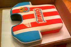 Chivas Jersey Cake! Soccer jersey cake. Check out my post for more details.