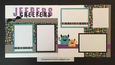 CTMH Jeepers Creepers layout - ScrapmomsCraftroom.blogspot.com