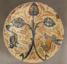 Dish second half 15th century Made in probably Manises, Valencia, Spain
