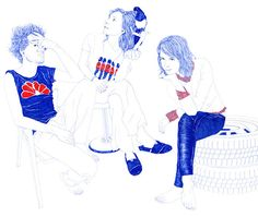 Illustrating Youth with a Ballpoint Pen by Carine Brancowitz