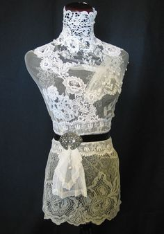 Dress form from Lace