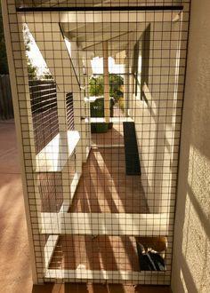 Painted Wood Deck, Cat Mansion, Spanish Tile Roof, Litter Box Covers, Outdoor Cat Enclosure, Cat House Diy, Building Management, Stucco Walls, Pet Door