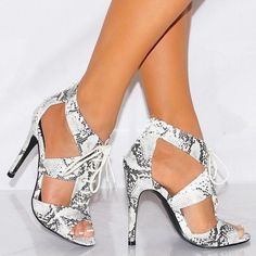 Sneak Pattern HOllow Out Peep Toe Stiletto High Heel Sandals #ohyoursfashion #girls #outfits #onlineshopping #fashion