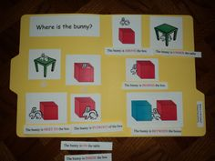 Match up activity for Learning Prepositions - students can match sentences to pictures ELL