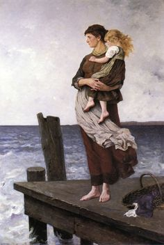 Waiting - August Wilhelm Nikolaus Hagborg 1877