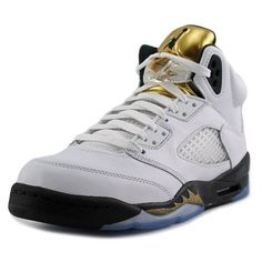 51a76f587efc09 Jordan Retro 5 Youth US 4.5 White Basketball Shoe