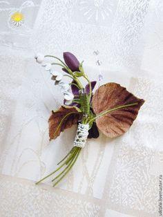 """Купить Брошь из кожи """"Весна скоро"""" украшение из кожи,цветы из кожи - брошь из кожи"""