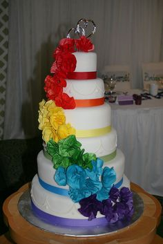 ... Rainbow Wedding Cake   by ARK Squared